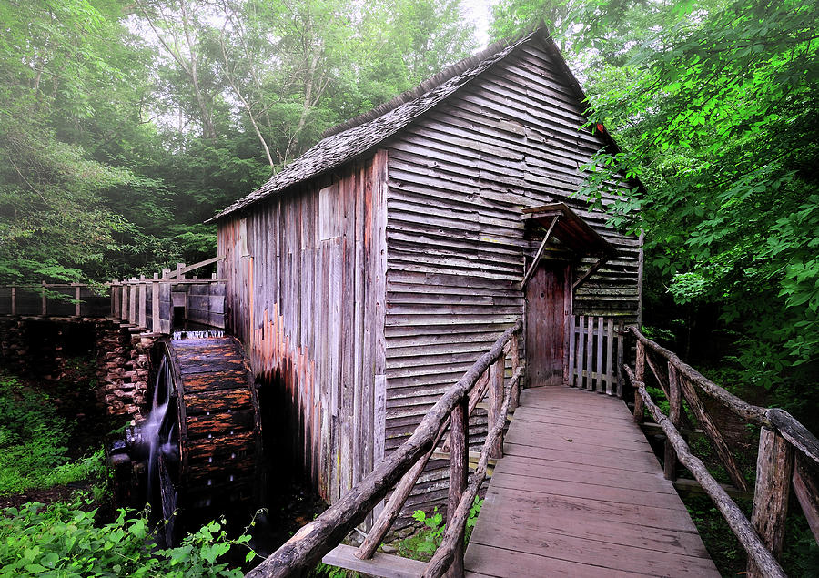 Grist Mills Photograph - The Cable Grist Mill by Thomas Schoeller