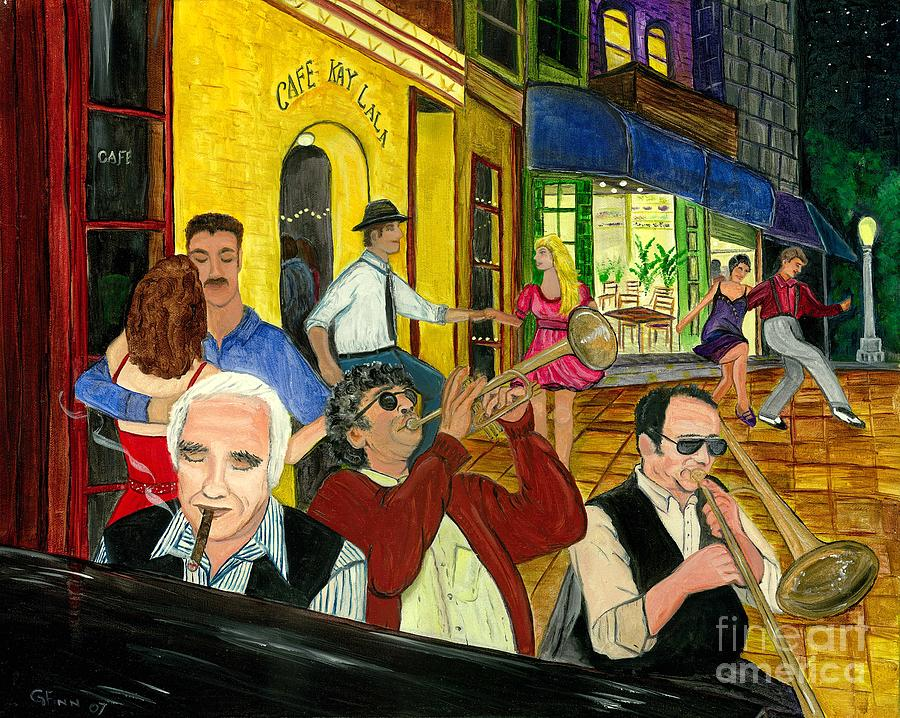 Music Painting - The Cafe by Gail Finn