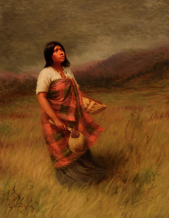 Feathers Painting - The Call Of Makila Mad Tha by Grace Carpenter Hudson