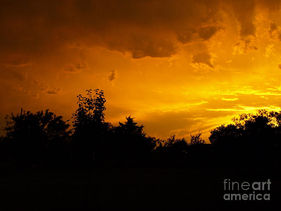 Sunset Photograph - The Calm Before The Storm by Gail Finger