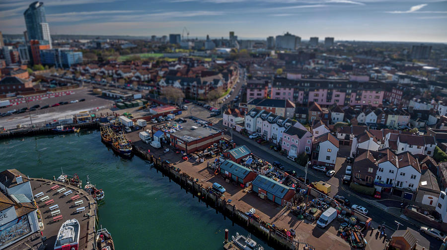 Tilt And Shift Photograph - The Camber.  by Angela Aird