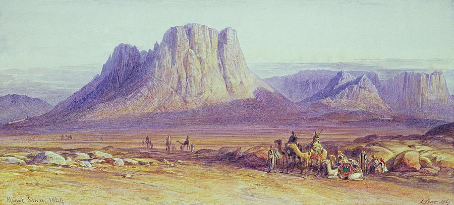 The Painting - The Camel Train by Edward Lear