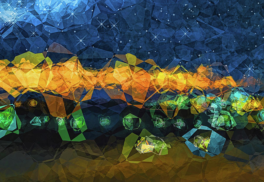 Abstract Digital Art - The Campsite by Wendy J St Christopher