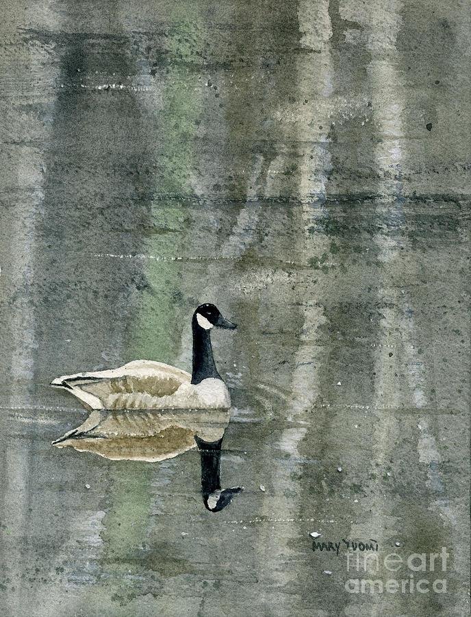 Canada Painting - The Canadian Goose by Mary Tuomi