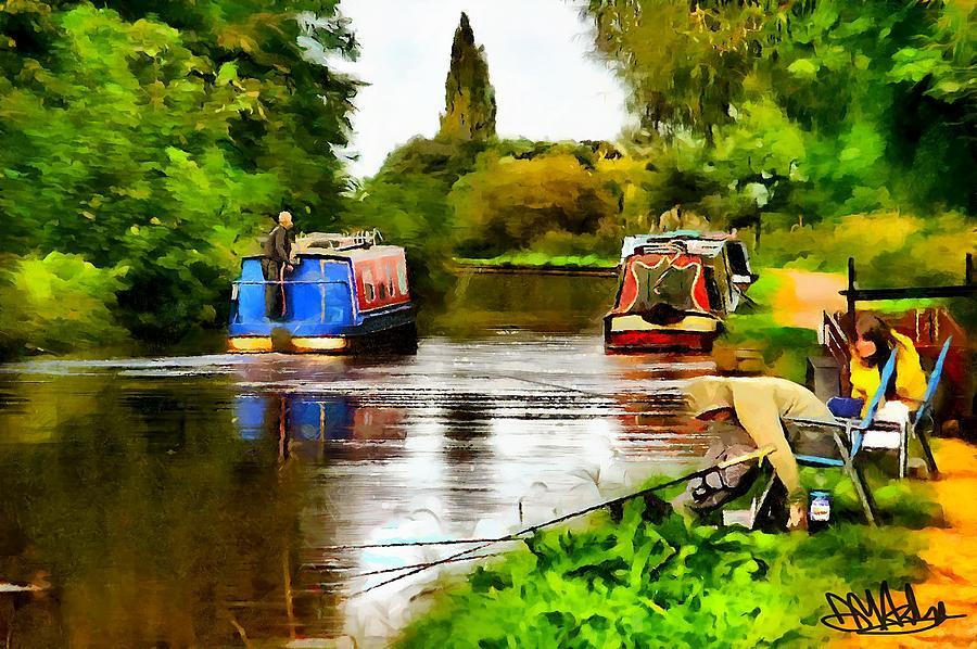 Canal Digital Art - The Canal by Mark Ashley