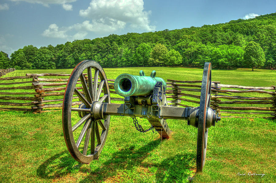 The Cannon Civil War Confederate States Art Photograph