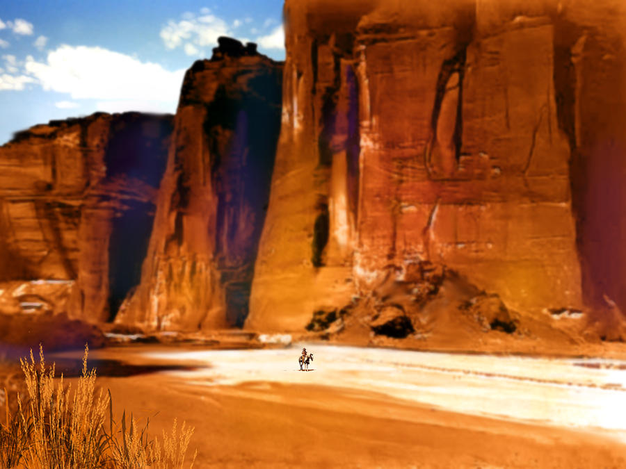 Native Americans Painting - The Canyon by Paul Sachtleben