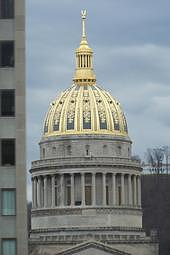 Capital Building Photograph - The Capital Building In West Virginia by Heather Shell Martin