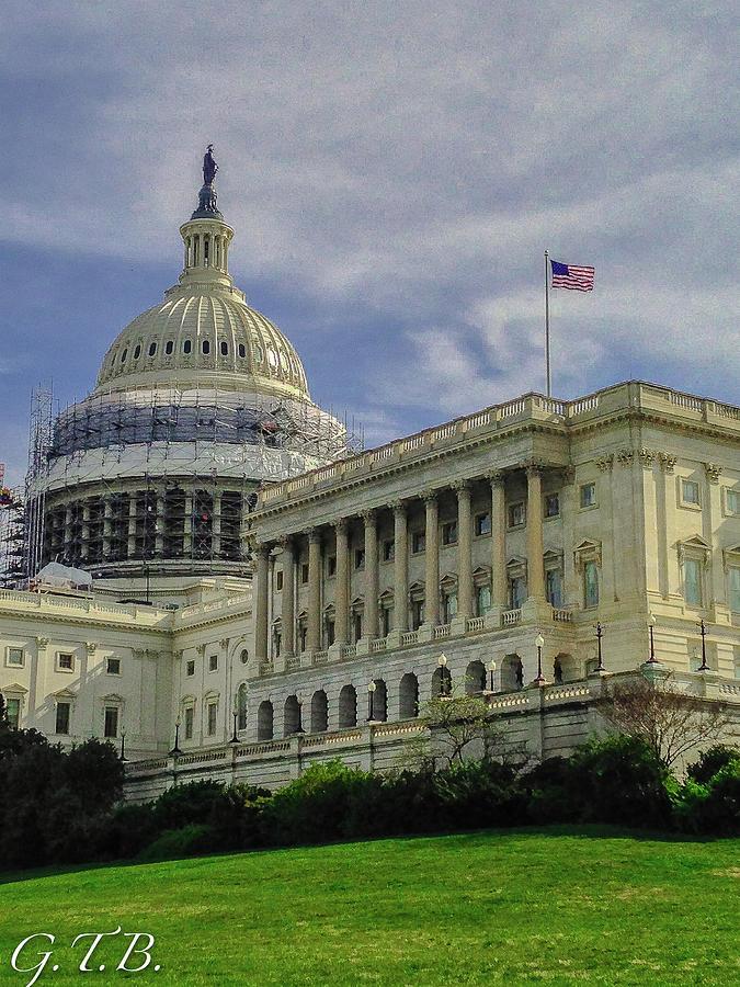 The Capital Photograph - The Capitol Under Construction by Garrett Blum
