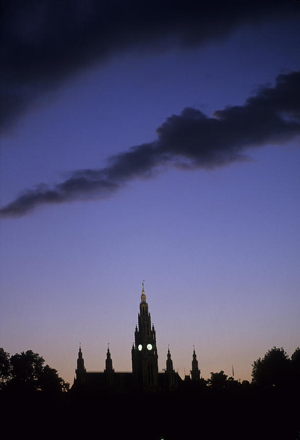 Vienna Photograph - The Capitol Buildings Silhouetted by Taylor S. Kennedy