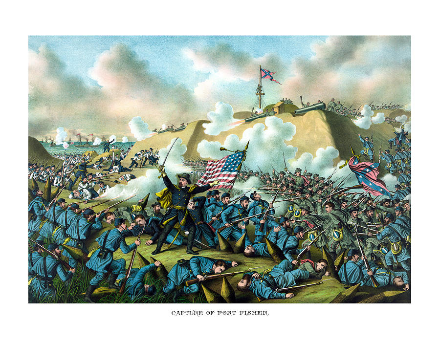 Civil War Painting - The Capture Of Fort Fisher by War Is Hell Store