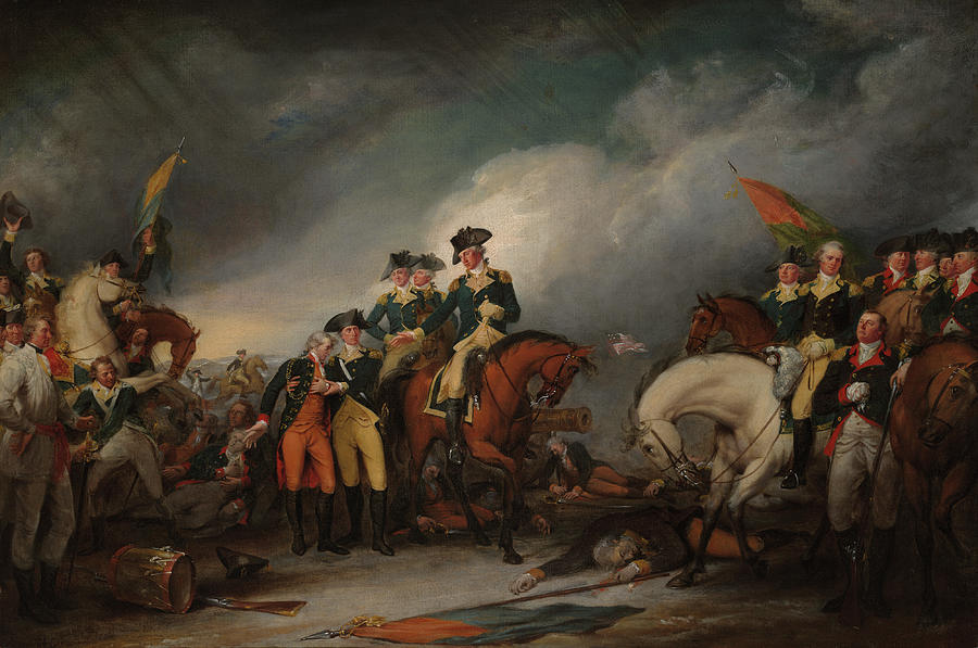 Capture Painting - The Capture Of The Hessians At Trenton Dec 26, 1776 by John Trumbull