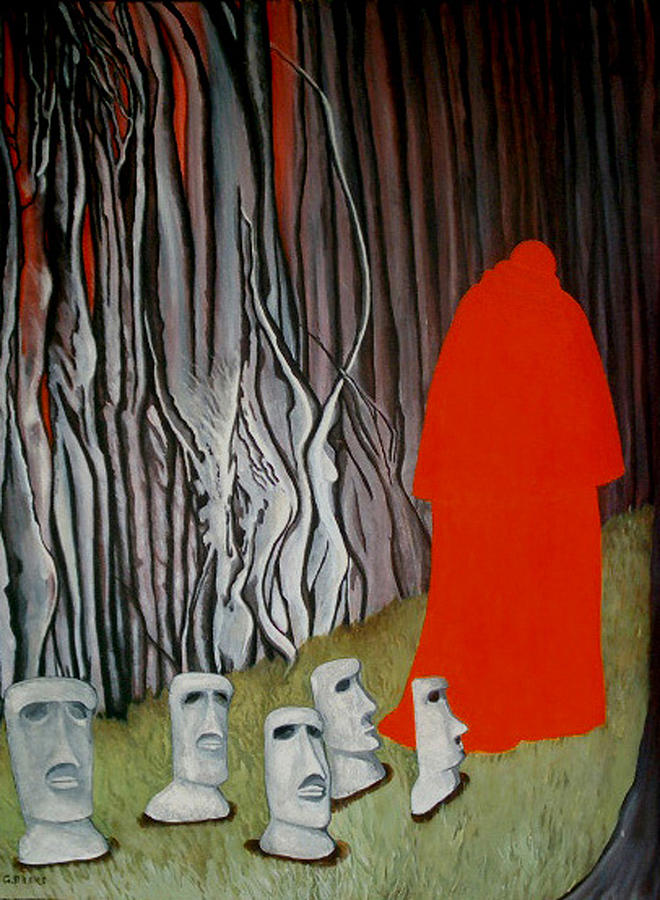 Surreal Painting - The Cardinal by Georgette Backs