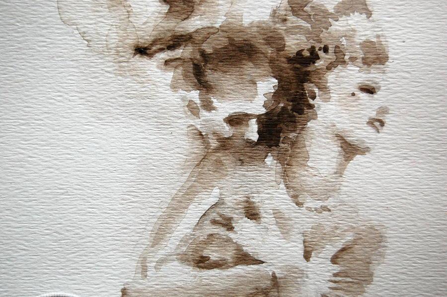 Figure Painting - The Caress by Jea DeVoe