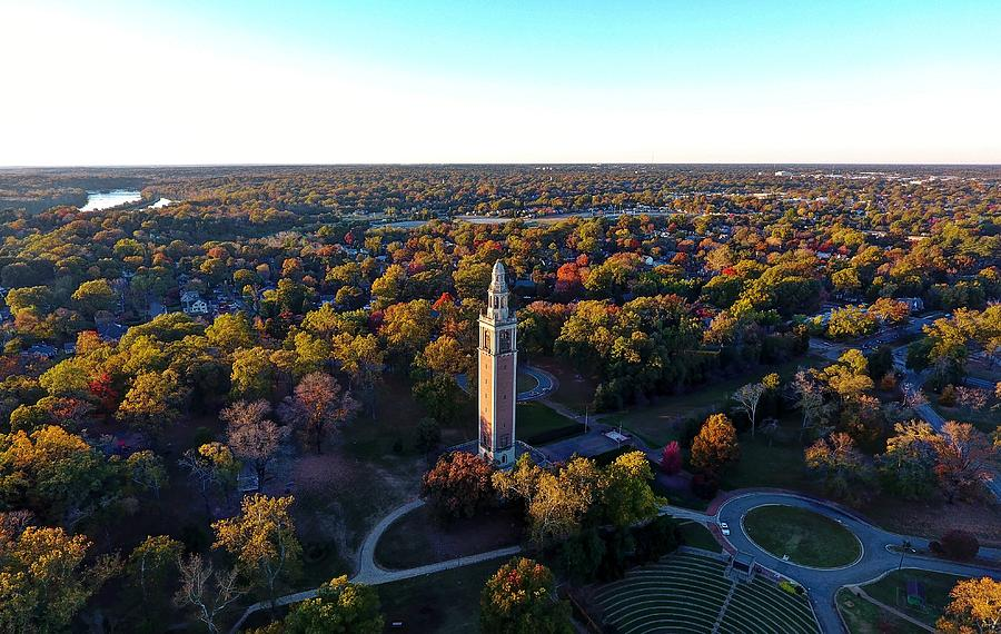 Rva Photograph - The Carillon Sunset Fall 2016 by Tredegar DroneWorks