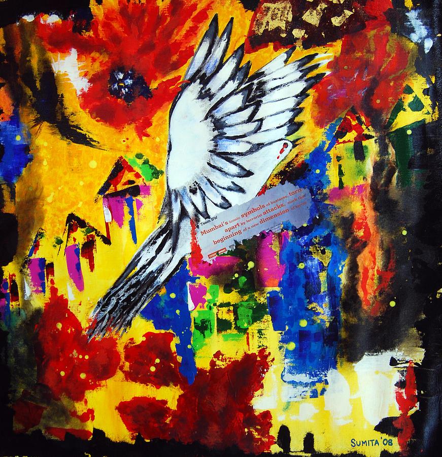 Taj Painting - The Carnage At The Taj  by Sumita Acharya