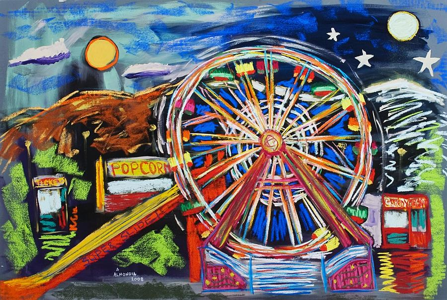 Carnival Painting - The Carnival Concoction by Albert  Almondia