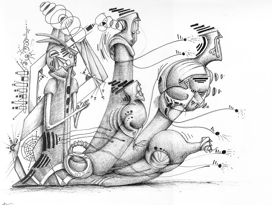 Surrealism Drawing - The Carriage by Gabriel Hernandez