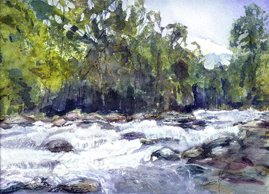 Cascades Painting - The Cascades by Barry Jones