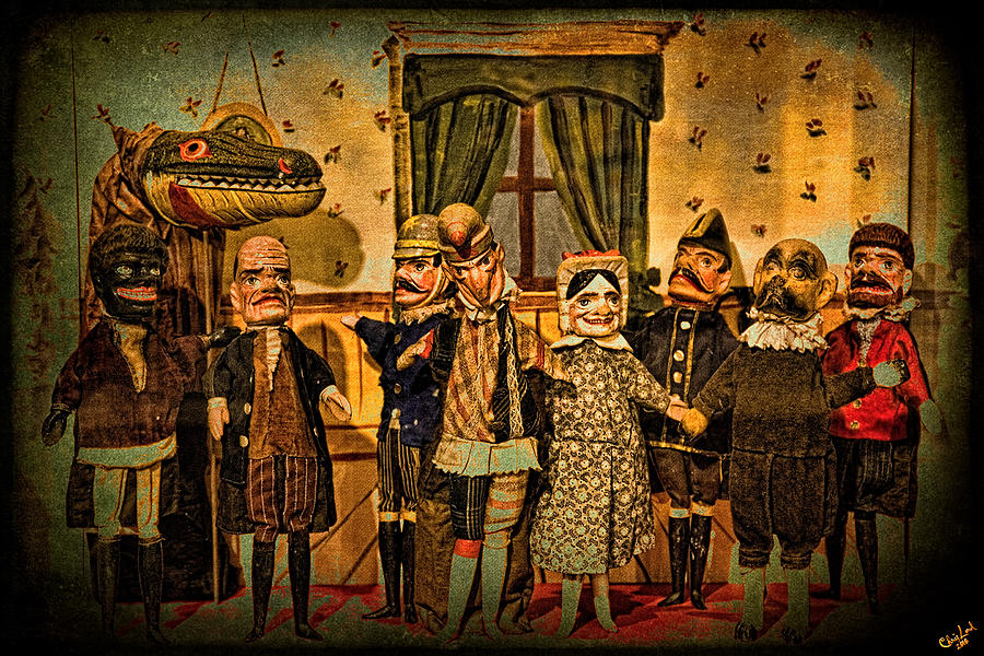 Puppets Photograph - The Cast Takes A Bow by Chris Lord