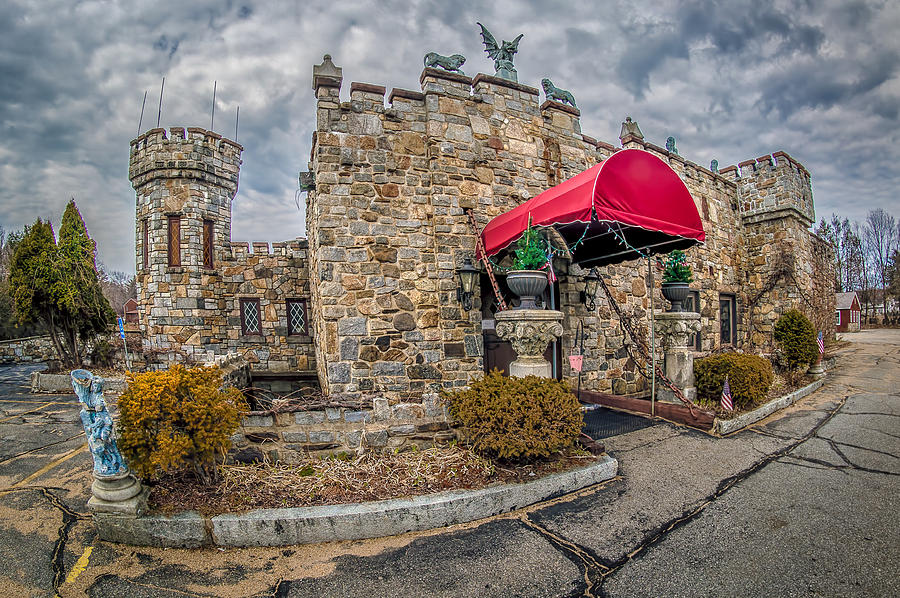 Fisheye Photograph - The Castle Restaurant by Bob Bernier