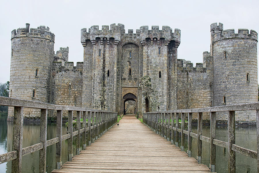 The Castle Walls Photograph by Martin Newman