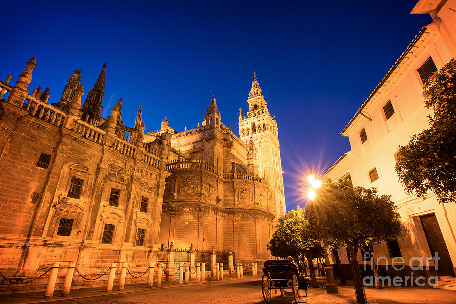Seville Photograph - The Cathedral Of Seville by Delphimages Photo Creations