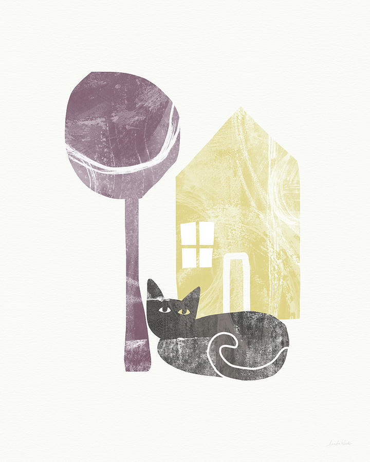 Modern Painting - The Cats House- Art By Linda Woods by Linda Woods