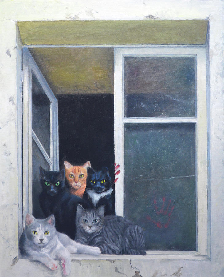 The Cats Of Ulthar Painting By Armand Cabrera