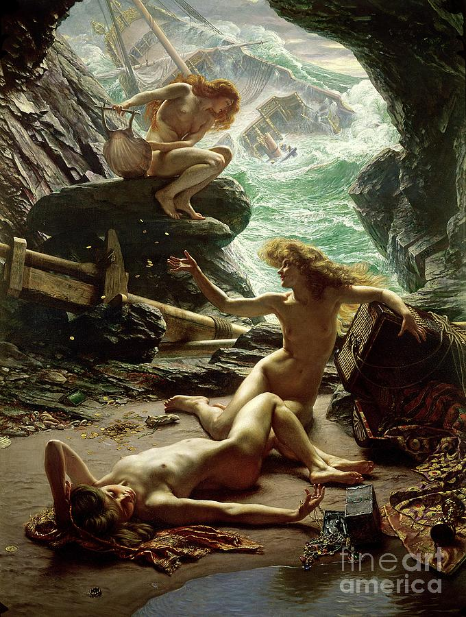 Poynter Painting - The Cave Of The Storm Nymphs by Sir Edward John Poynter