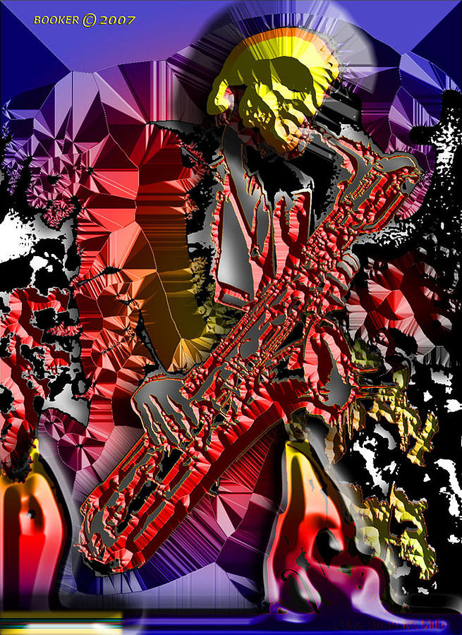 Music Mixed Media - The Celestine Saxmo by Booker Williams