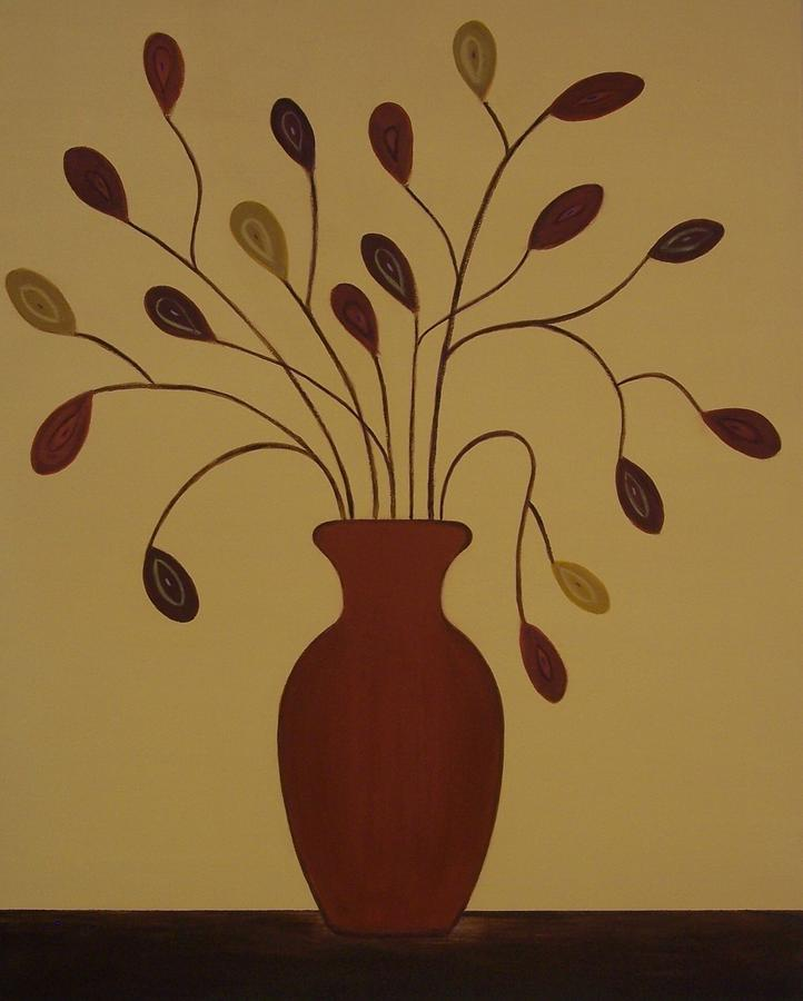Modern Painting - The Centerpiece by Sandy Bostelman