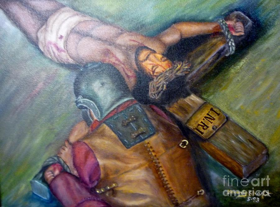 Crucifixion Painting - The Centurion by Beverly Hanni