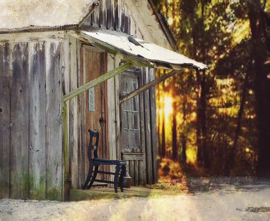 Shed Photograph - The Chair by Stephanie Calhoun