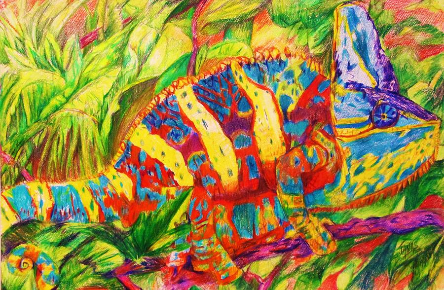 The Chameleon Painting by B Janas