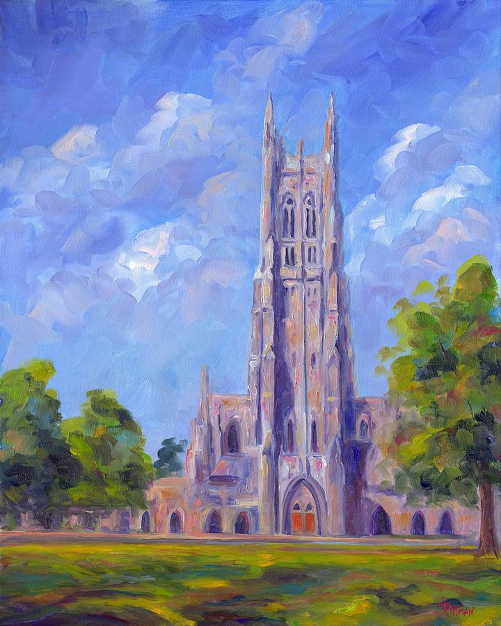 Duke Chapel Painting - The Chapel At Duke University by Jeff Pittman