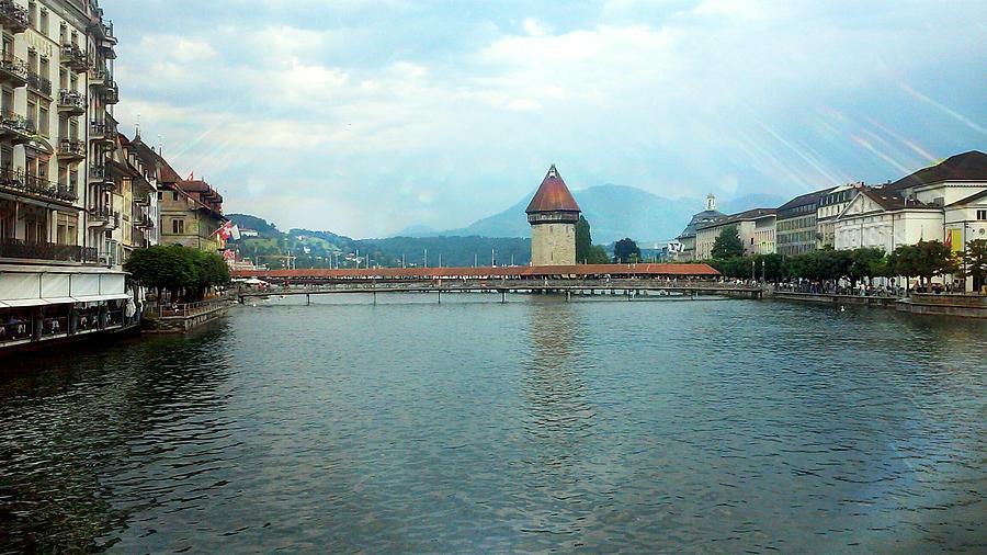 Switzerland Photograph - The Chapel Bridge  by Elizabeth Wiegel