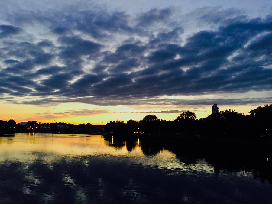 The Charles River at Sunset by Rick Macomber