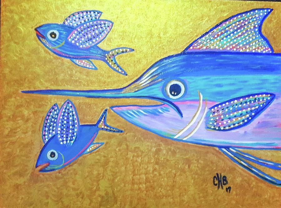 The Chase - Majestic Blue Marlin Painting
