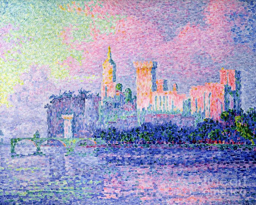 Avignon Painting - The Chateau Des Papes by Paul Signac
