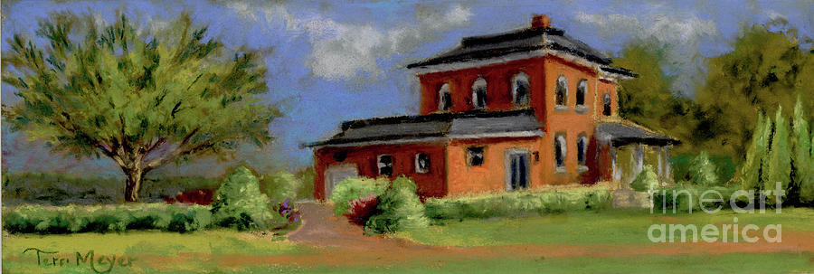 The Chateau House  Painting by Terri  Meyer