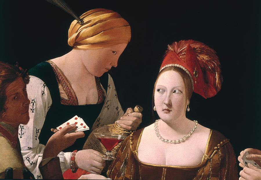 The Cheat With The Ace Of Diamonds Painting - The Cheat With The Ace Of Diamonds by Georges de la Tour