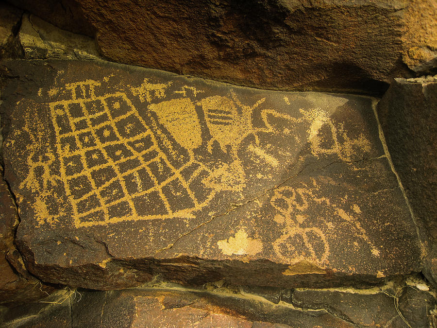 Petroglyph Photograph - The Checkerboard  by TM Schultze
