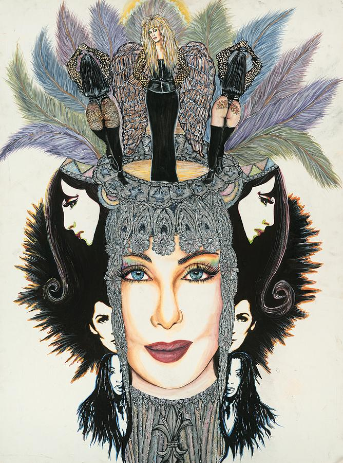 Cher Mixed Media - The Cher-est Painting by Joseph Lawrence Vasile
