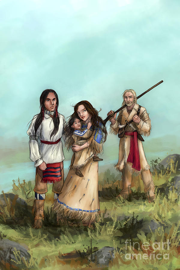 Native American Drawing - The Cherokee Years by Brandy Woods