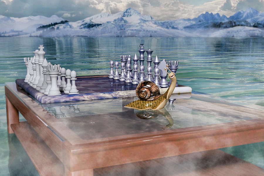 Chess Digital Art - The Chess Game by Betsy Knapp