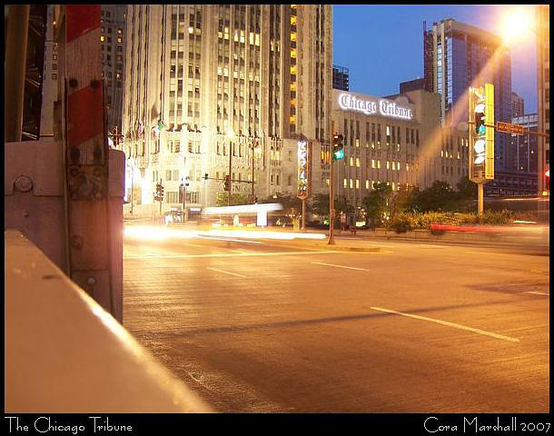 City Photograph - The Chicago Tribune by Cora Marshall