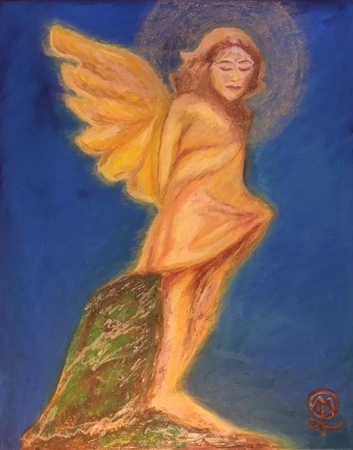 The Child Angel Painting by Therese Legere