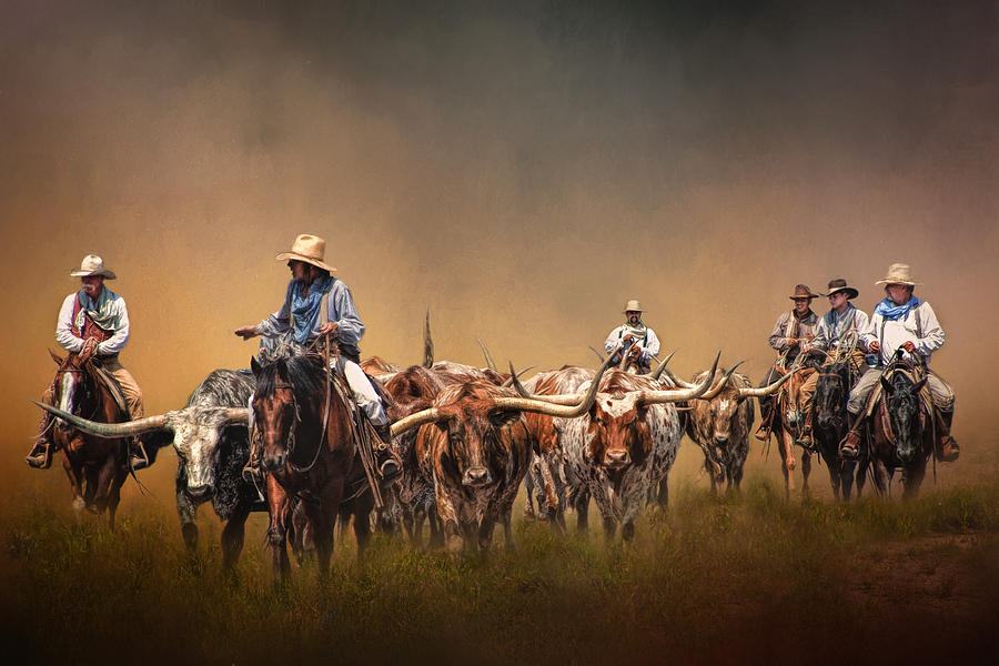 Animals Photograph - The Chisolm Trail by David and Carol Kelly