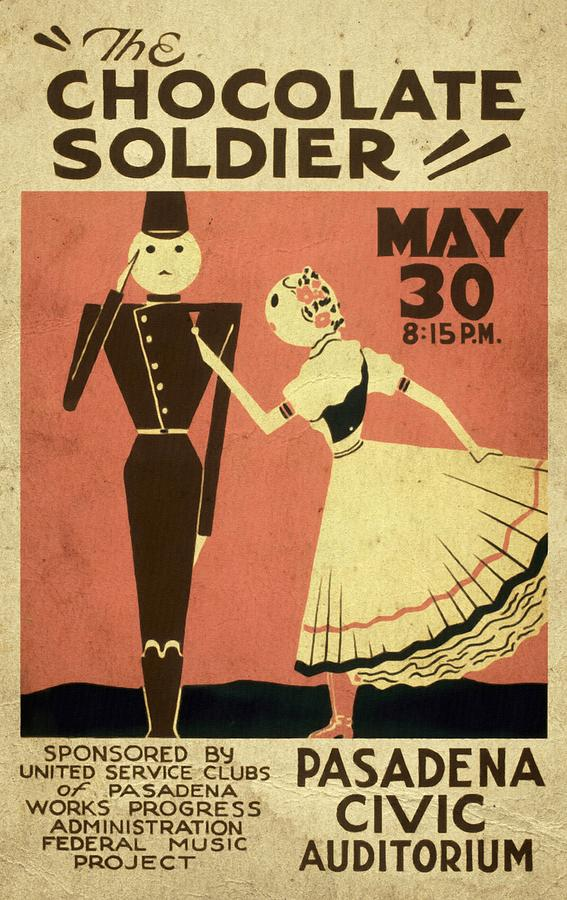 The Chocolate Soldier Vintage Poster Vintagelized Mixed